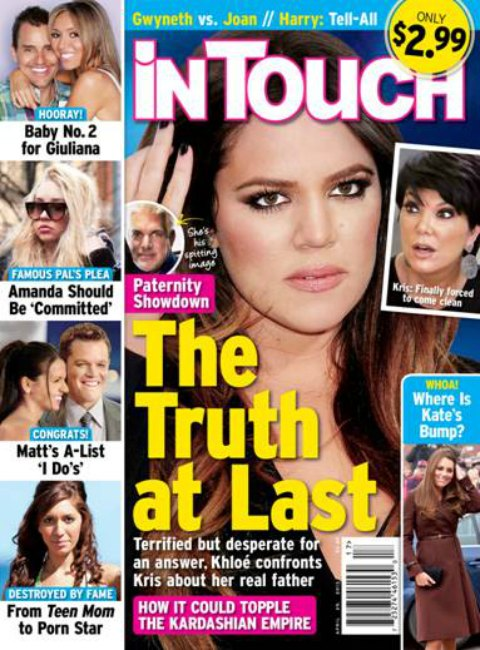 Khloe Kardashian Confronts Kris Jenner: WHO IS MY REAL FATHER? (PHOTO)
