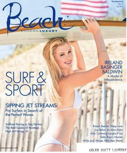 Ireland Baldwin Bikini Beach Magazine Cover (Photo)