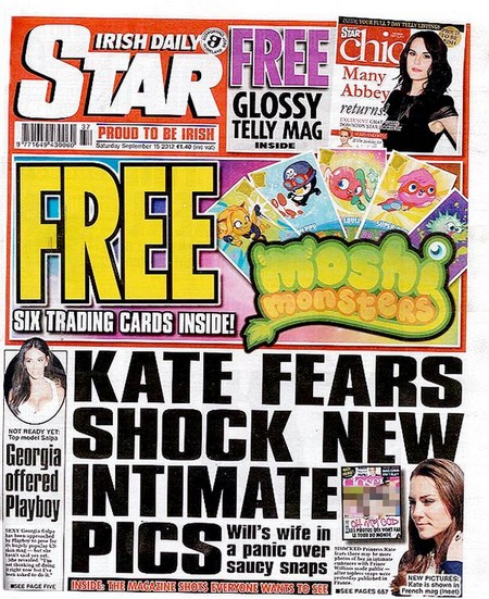 Kate Middleton's Nude Topless Pictures Force Irish Daily Star's Editor Forced To Resign - Absurd Censorship (Photos)