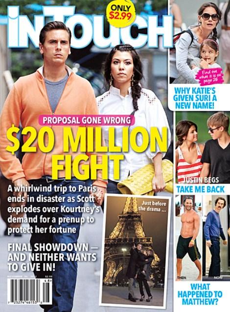 Scott Disick's Marriage Proposal To Kourtney Kardashian $20 Million Seperation War