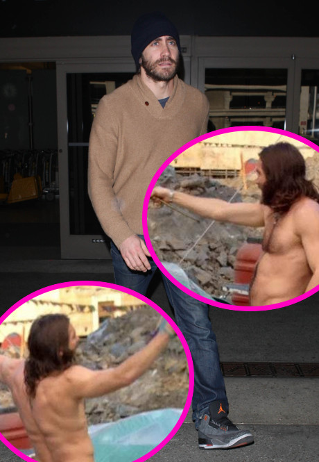Jake Gyllenhaal Naked Photos Bare Butt: The Actor Strips Down at Roman Campsite for New Movie! (PHOTOS)