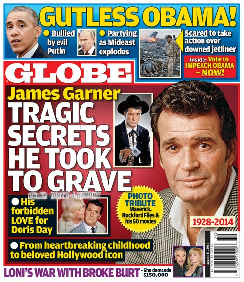 GLOBE: James Garner - Tragic Secrets Revealed - Forbidden Love! (PHOTO)