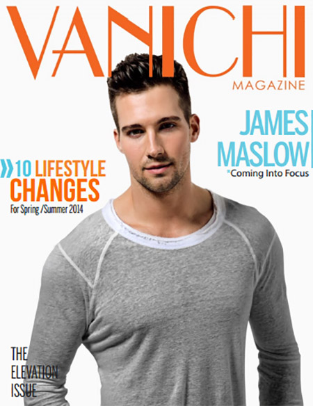 James Maslow Dancing With The Stars Contestant Dishes On The Importance Of Giving Back In New Vanichi Magazine Feature! (PHOTO)