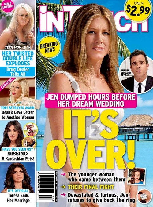 Jennifer Anniston and Justin Theroux Break Up At Wedding – Justin Dumps Jen At The Altar For Younger Woman (PHOTO)
