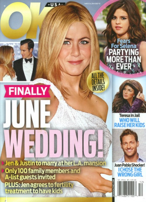 Jennifer Aniston and Justin Theroux Planning June Wedding - Taking 'Minimalist' Approach (PHOTO)