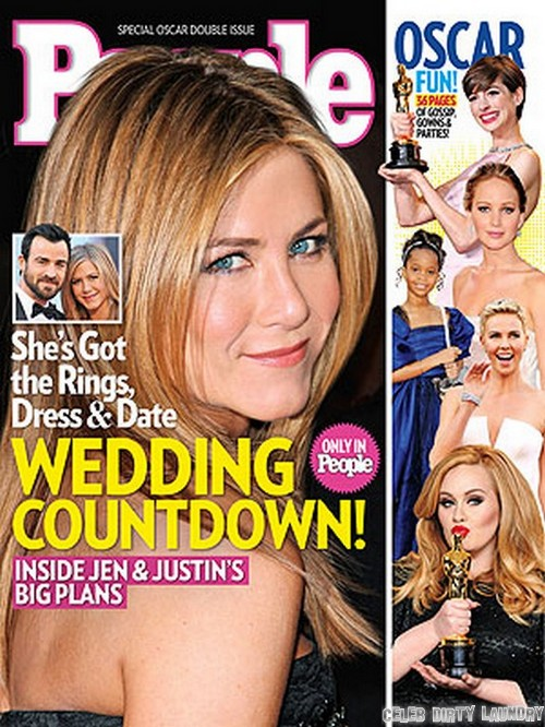 Jennifer Aniston Planning Justin Theroux Wedding (Photo)