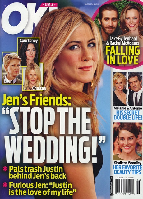 Jennifer Aniston and Justin Theroux Wedding: Friends Beg Jen Not To Marry - They Hate Him! (PHOTO)