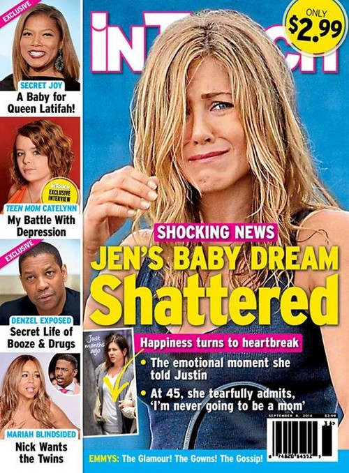Jennifer Aniston: Miscarriage, Pregnant Rumors - Does She Simply Not Want Kids? (PHOTO)