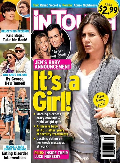 Jennifer Aniston Pregnant With a Girl at 45 - See Baby Bump? (PHOTO)