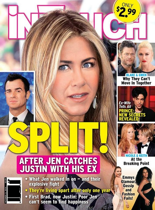 Justin Theroux Caught With Heidi Bivens: Devastated Jennifer Aniston Consoles Brad Pitt After Split From Angelina Jolie?