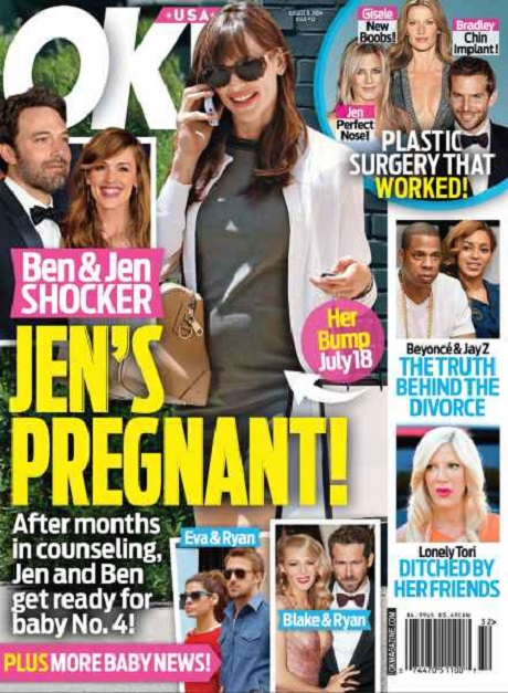 Jennifer Garner Pregnant With Fourth Child - Hiding Baby Bump - Ben Affleck Delighted? (PHOTO)