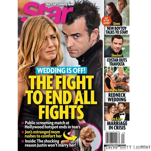 Jennifer Aniston and Justin Theroux Wedding Off After Huge Fight - Why He Won't Marry Her!