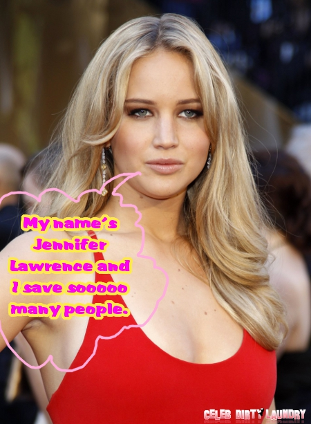 'Hunger Games' Star Jennifer Lawrence Helps Sloppy Drunk Woman Beat the Odds -- Saves Her Life! (Photos)