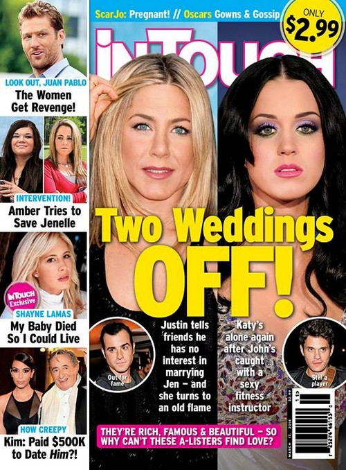 """Jennifer Aniston Cheating on Justin Theroux With an """"Old Flame"""" - Wedding Off (PHOTO)"""