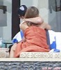 Semi-Exclusive... Jennifer And Justin Share A Kiss Poolside In Cabo