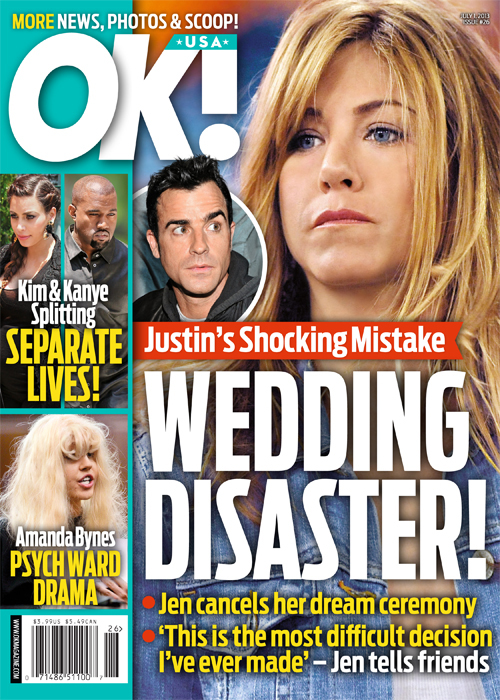 Jennifer Aniston & Justin Theroux's Wedding Tragedy: Jen Forced to Cancel her Dream Ceremony! (PHOTO)