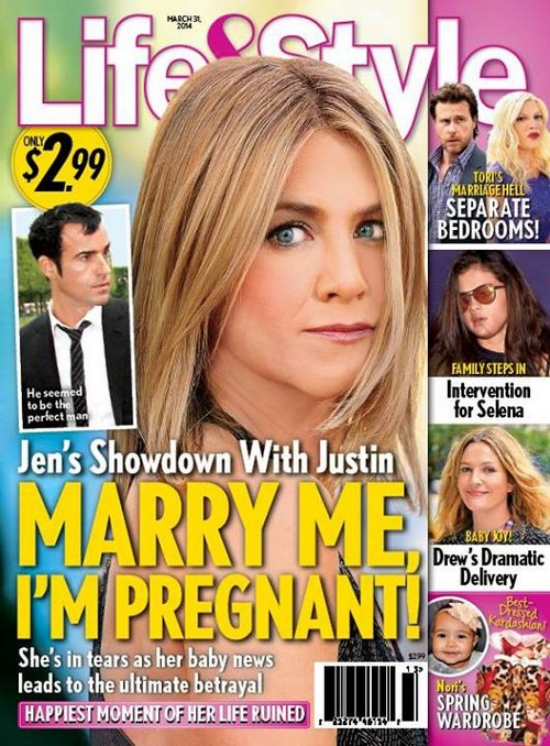 Jennifer Aniston Pregnant and Demands Wedding: Justin Theroux Refuses Marriage and Betrays Fiancee (PHOTO)