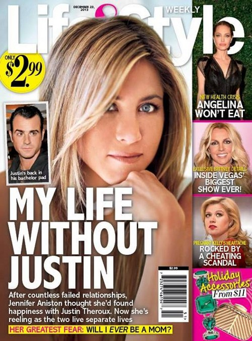 Jennifer Aniston and Justin Theroux Living Separate Lives - Failed Relationship For Jen? (PHOTO)