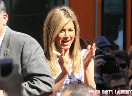 Jennifer Aniston Gets A Star On the Walk Of Fame