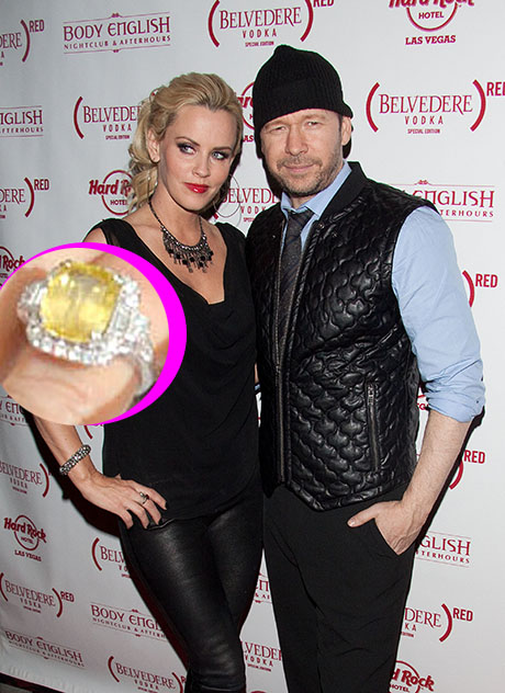 Jenny McCarthy And Donnie Wahlberg Engaged: See Her Giant, Sparkly Yellow Sapphire Ring Here! (PHOTO)