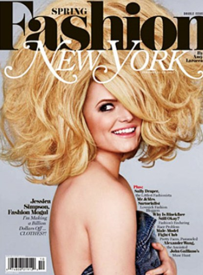 Jessica Simpson & Her Hair Rock The Cover Of New York Magazine