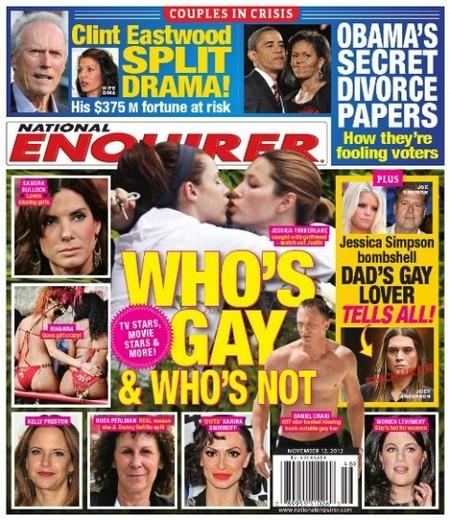 Who's Gay and Who's Not: Jessica Biel, Kelly Preston, Sandra Bullock, Rihanna and Others?