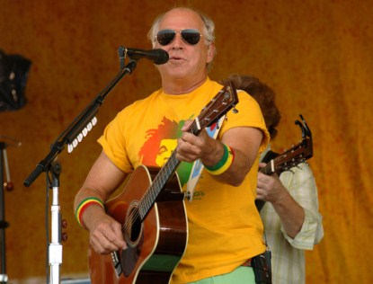 Jimmy Buffett Falls Off Stage in Australia