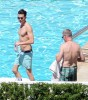 Joe Simpson Relaxing Poolside Before His Daughter's Wedding