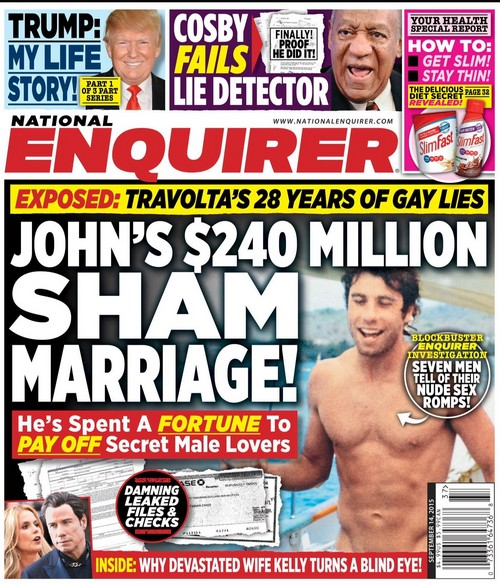 John Travolta $240 Million Sham Marriage - Payoffs to Secret Male Lovers - Is Kelly Preston Involved?