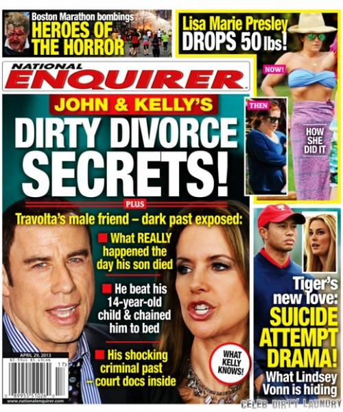 John Travolta & Kelly Preston's Dirty Divorce Secrets (Photo)