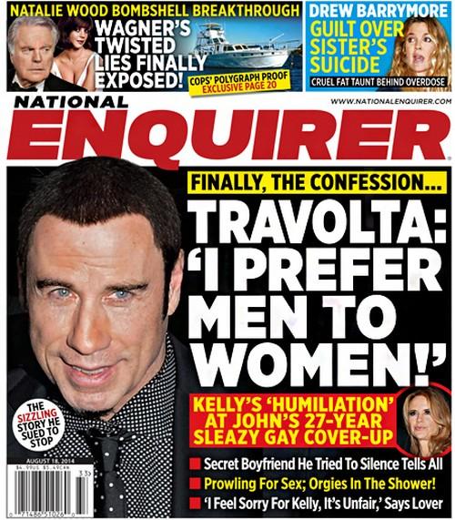 John Travolta Allegedly Gay: Prefers Men to Women - Kelly Preston 'Humiliated' by Doug Goterba Tell-All (PHOTO)