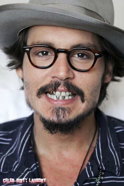 Johnny Depp Refuses To Brush His Teeth (PHOTO)