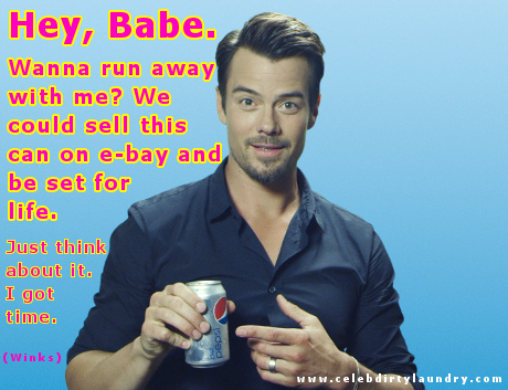 Josh Duhamel Gets Cheeky in New 'Share a Diet Pepsi' Campaign -- Check Out Our Own Memes! (PHOTOS)