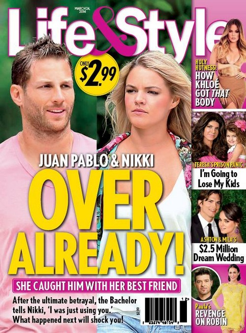 Nikki Ferrell and Juan Pablo Break Up as Juan Caught Cheating With Nikki's Best Friend (PHOTO)