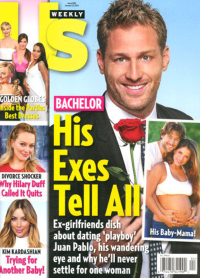 The Bachelor Juan Pablo Deems the 'Exes Tell All' Us Weekly Cover Ridiculous, Mocks it via Twitter alongside Baby Mama Carla Rodriguez! (PHOTO)