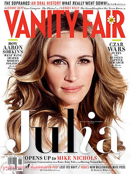 Julia Roberts Graces The Cover Of Vanity Fair