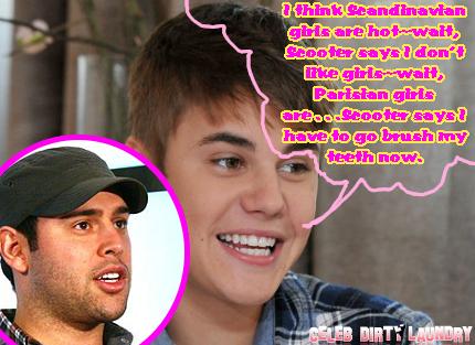 Justin Bieber Tries To Dish On Girls But Scooter Braun Shuts Him Down (Audio)