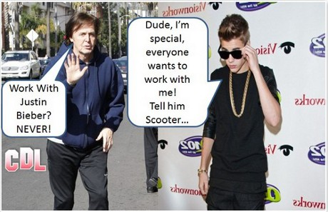 Justin Bieber Horrified after Singing Legend Paul McCartney Refuses to Work with Him!
