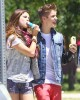 Semi-Exclusive: Justin & Selena Enjoying Enjoying Ice Cream In The Park