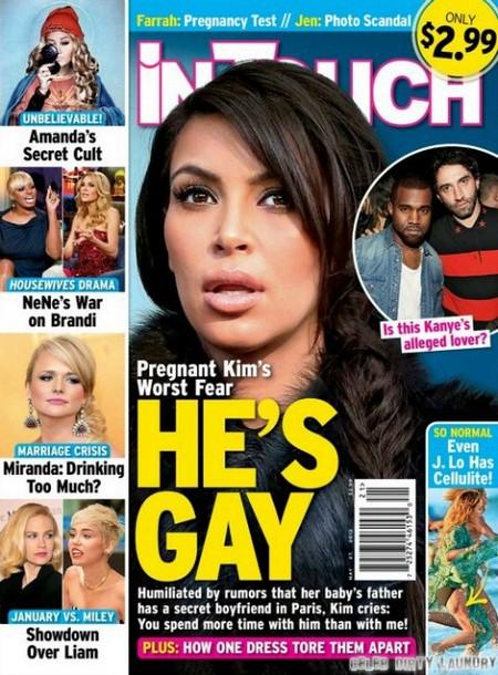 Kim Kardashian Fears Kanye West Is Gay (Photo)