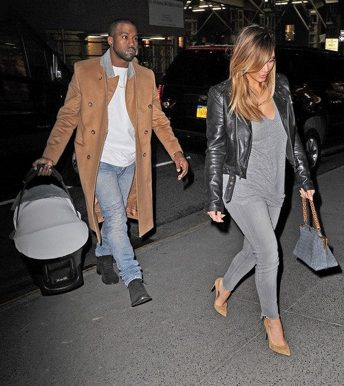Kanye West Holds Baby North with Kim Kardashian on NYC Dinner Date - See Dad Hands-On with Nori! (PHOTOS)