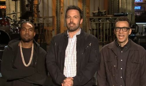 Videos of Kanye West's Saturday Night Live Appearance with Ben Affleck Host 5/18/13: The Most Awkward SNL Ever?
