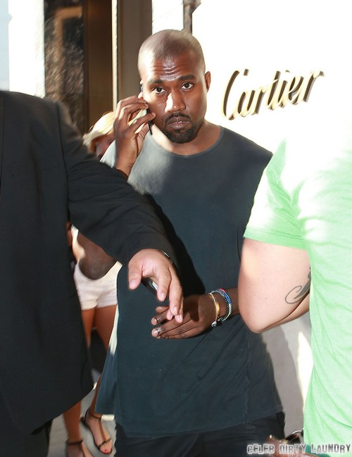 Kanye West Wedding Band Shopping at Cartier Beverly Hills (PHOTOS)