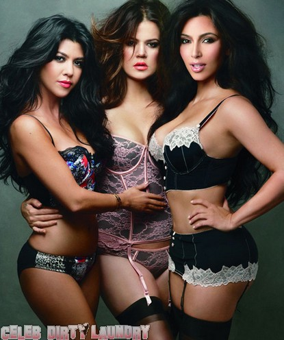 Kim, Khloe & Kourtney Kardashian Get Photoshopped Wearing Lingerie (Photo)