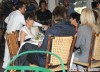 Pregnant Kim Kardashian & Khloe Eat At The Ivy With Their Parents