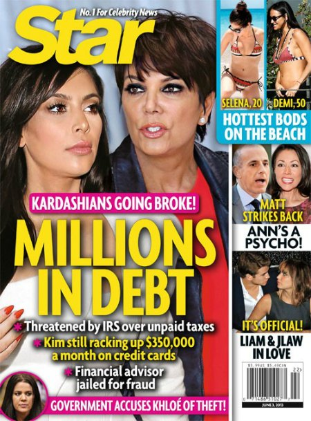 Kim Kardashian & Kris Jenner Are Going Broke - Kardashians Are Millions In Debt! (Photo)