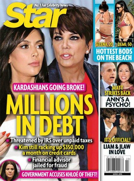 Kim Kardashian & Kris Jenner Are Going Broke - Kardashians Are Millions In Debt! (Photo)