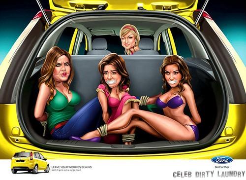 Paris Hilton Binds & Gags Kim, Kourtney & Khloe Kardashian (Photo)