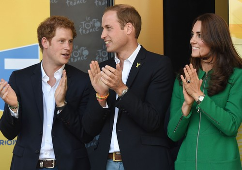 Kate Middleton Pregnant Baby Bump Pics With Prince Harry and Prince William at Tour de France - New Second Child Rumors (PHOTOS)