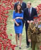 William, Kate & Prince Harry Visit Tower Of London's Ceramic Poppy Field